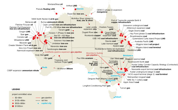 mining in australia overview of mining and resource project locations