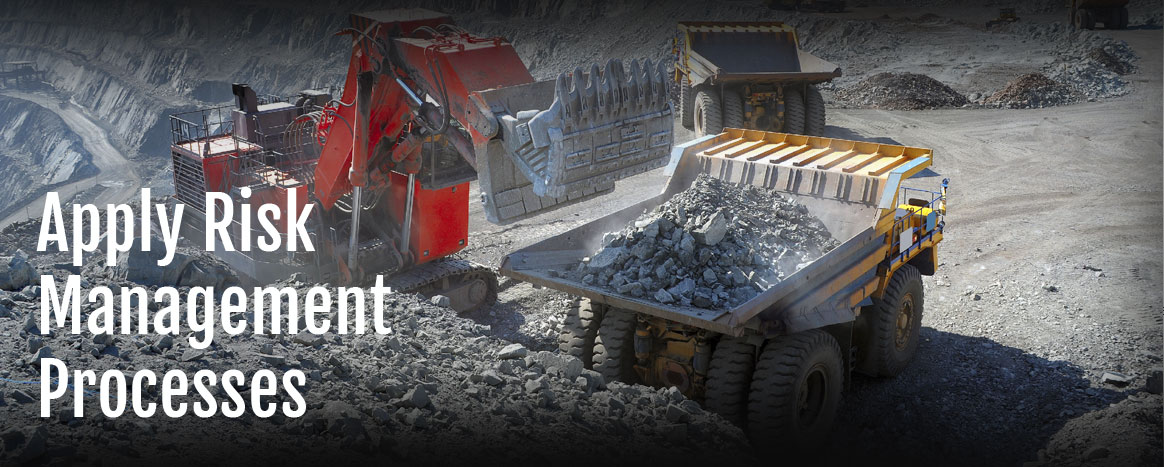 iMINCO training apply risk management processes - mining dump truck coal mine