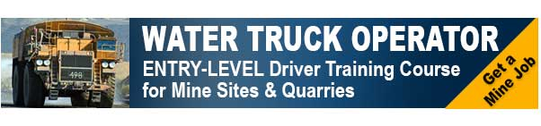 Water truck training course Brisbane iMINCO