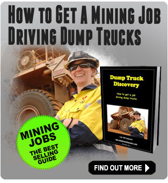 How to get a mining job driving a dump truck