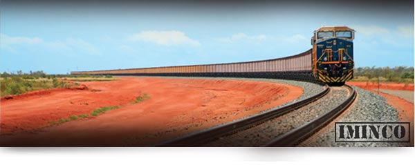 WA Mining Jobs - Fortescue Metals iron ore train on its way to Port Hedland in the Western Australian Pilbara iMINCO