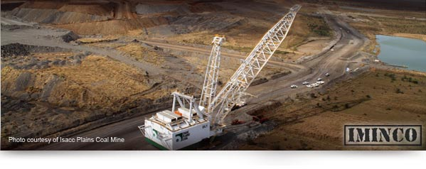 Isacc Plains Coal Mine - Bowen Basin - Leighton Holdings - Dragline Operations Coal Mining - iMINCO