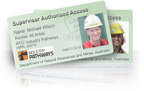 Mining Supervisor sample generic mining induction card