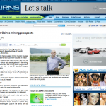 Cairns Post Mining Article 20th January 2012