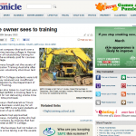 Fraser Coast Chronicle Mining Article