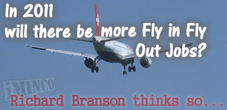 Fly In Fly Out jobs on the increrase