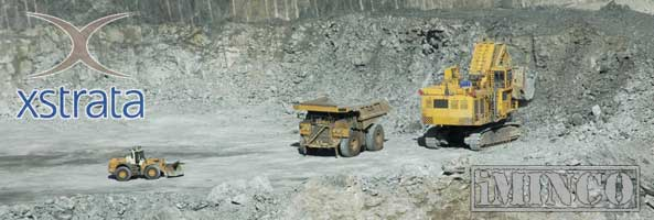 McArthur River mining jobs. Haul truck and loader on mine site