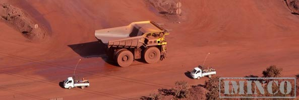 iMINCO mining jobs, iron ore mine Australia dump truck on a mine site