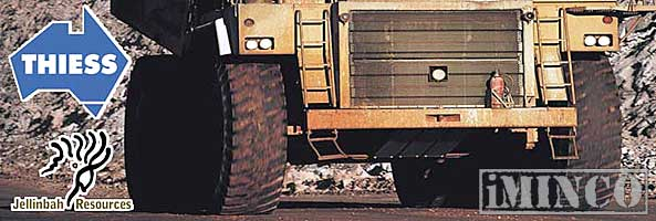 Thiess mining jobs. Picture of a dump truck on a mine site - iMINCO