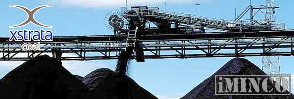 Xstrata coal mining operations in Australia. Picture of a coal loader.