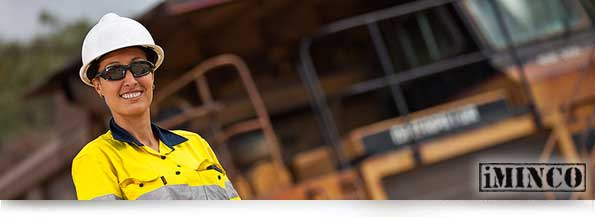 Australian Mining Activity higher than it's ever been in 2012 - image of a women in a mining job