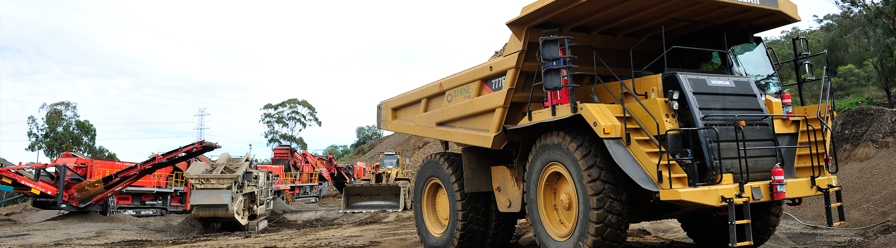 Dump Truck Operators Bowral mine Mugga Quarry Site Canberra