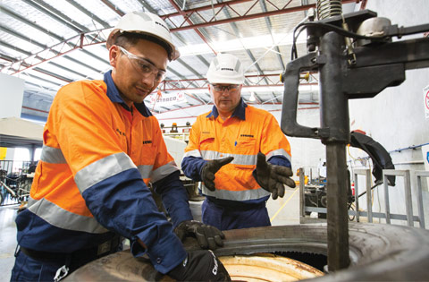 Mine Site Tyre Fitters 7/7Roster Open Cut Coal Mining Bowen Basin-iMINCO.net Mining Information