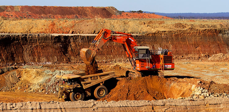 Heavy Excavator Operators Coal Mining Production Australia